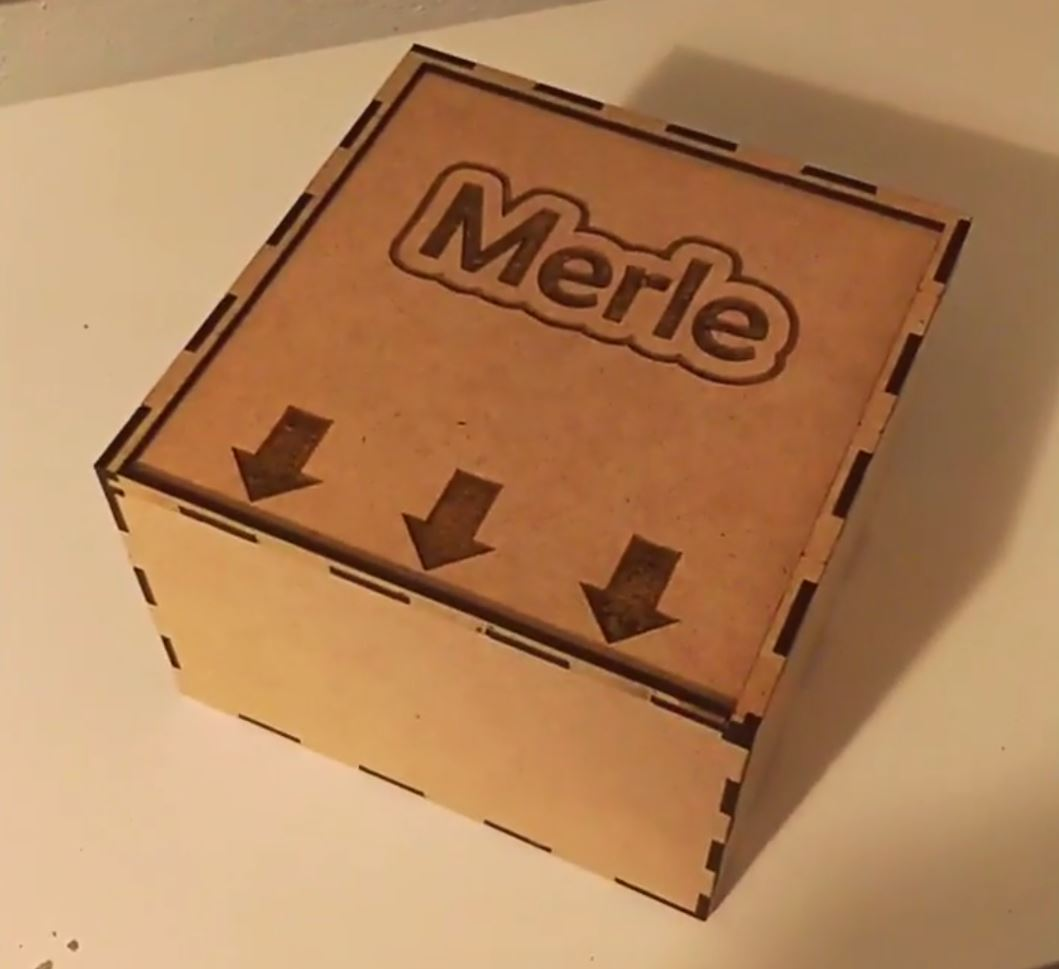 Laser Cut Wooden Box With Sliding Lid 15x15x10 3mm Mdf Template DXF File