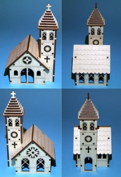Church Plywood Laser Cut Template Free Vector