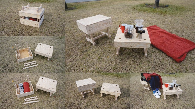 Laser Cut Picnic Table DXF File