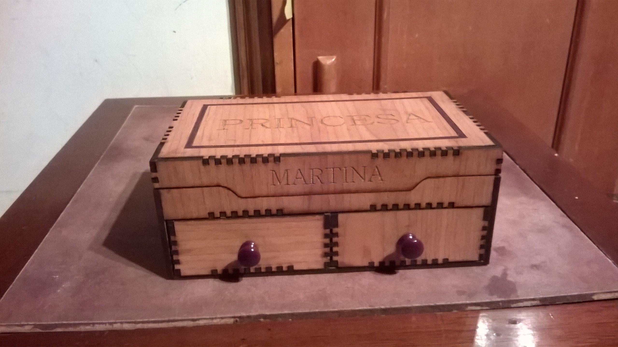 Wooden Decorative Box DXF File