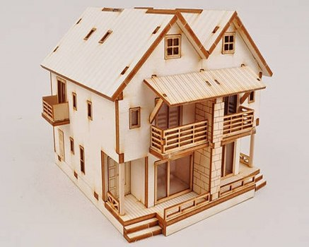 Laser Cut House Country Full Template Free Vector