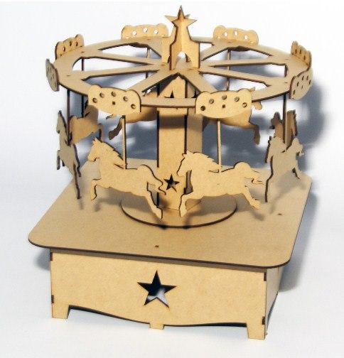 Laser Cut Horse Carousel Free Vector