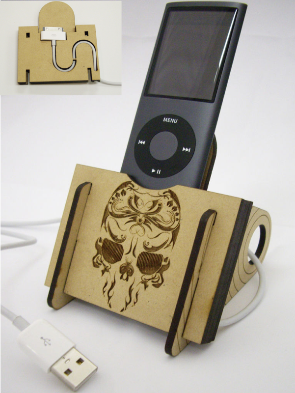 Laser Cut IPod Dock DXF File