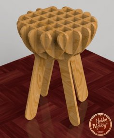 Laser Cut Stool DXF File