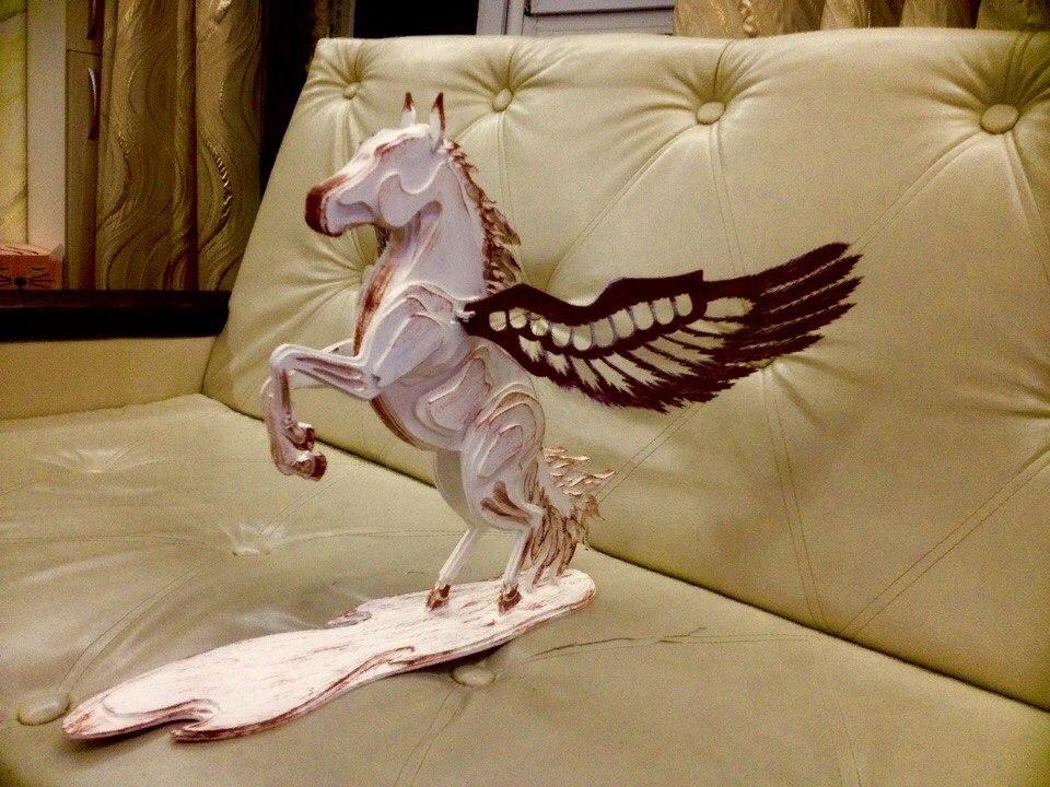Laser Cut Pegasus 3mm Free Vector