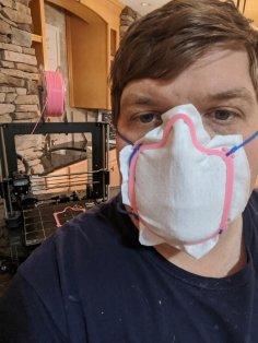 Laser Cut Face Mask Frame Free Vector