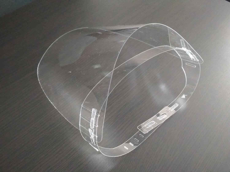 Laser Cut Coronavirus Protective Face Shield PET Sheet 0.5mm Free Vector