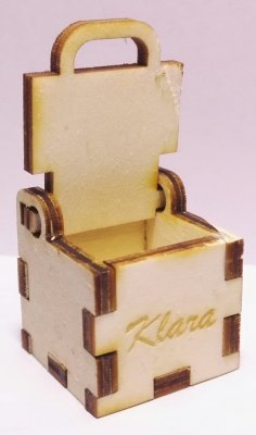 Laser Cut Small Simple Box 3x3x3cm 4mm Free Vector