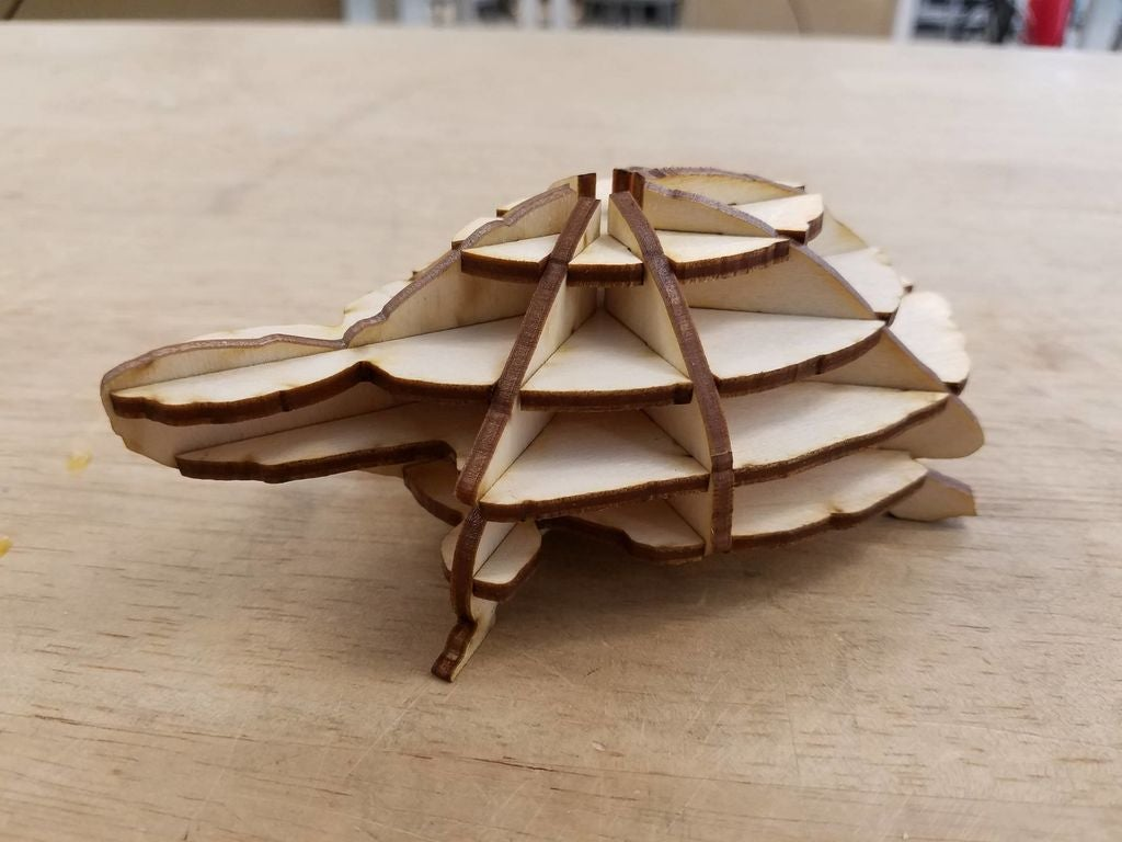 Laser Cut Turtle PDF File