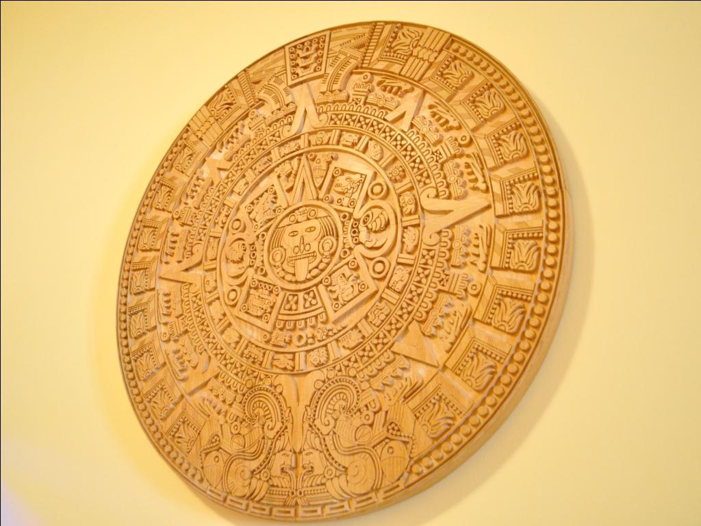 Aztec calendar stone dxf file