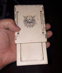 Laser Cut Cigarette Case Wooden Cigarette Box Free Vector