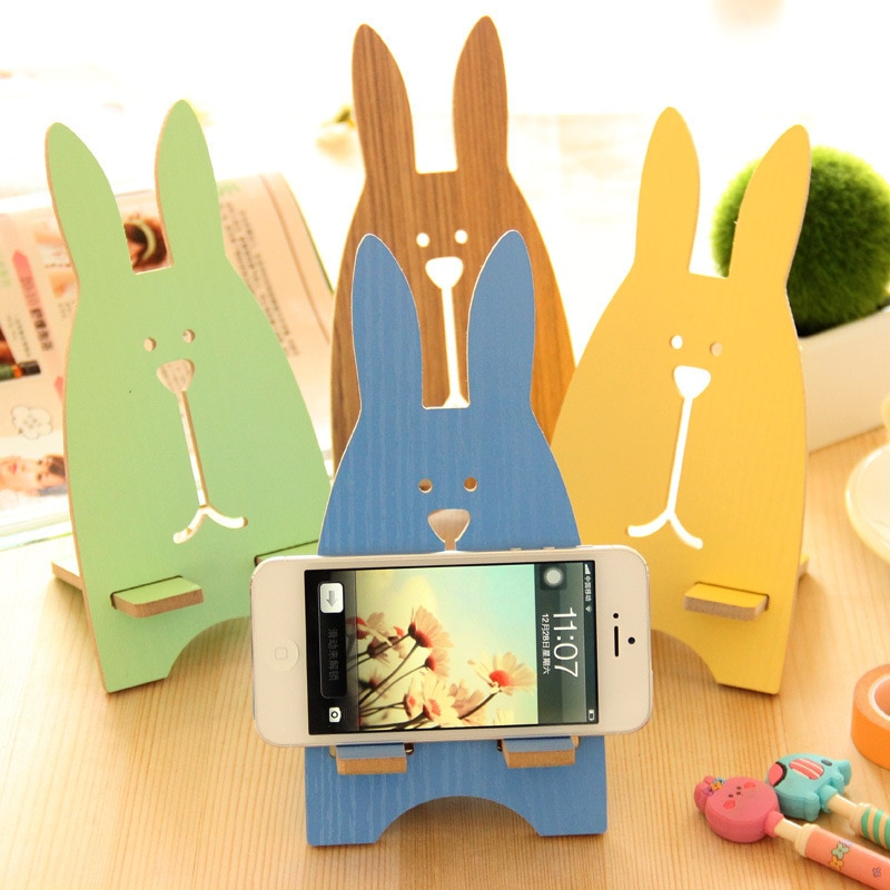 Laser Cut Rabbit Desk Phone Stand Free Vector