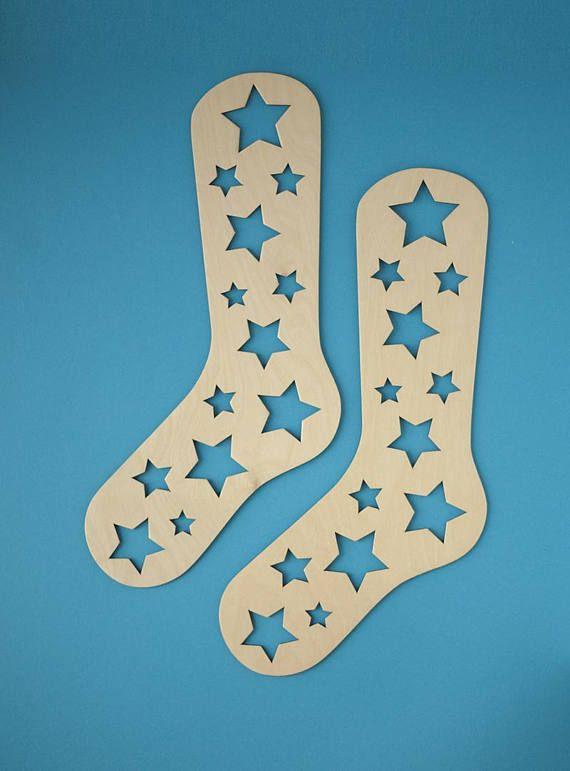 Laser Cut Wooden Sock Blockers Free Vector