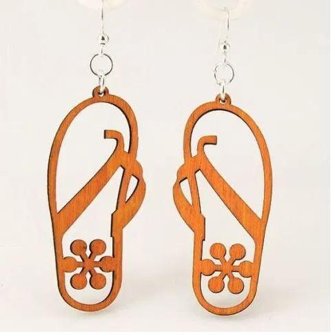 Laser Cut Flip Flops Earrings Beach Sandals Earrings Summer Earrings DXF File