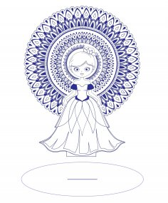 Laser Cut Wooden Bride Free Vector