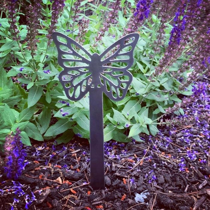 Laser Cut Butterfly Garden Stake Garden Decoration DXF File