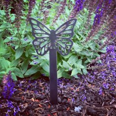 Laser Cut Butterfly Garden Stake Garden Decoration DXF File