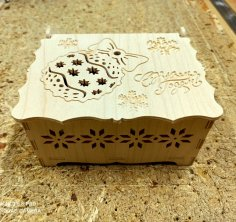 Laser Cut New Year Gift Box Christmas Eve Box DXF File