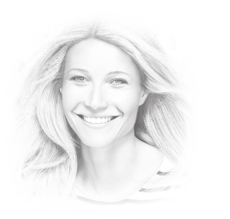 Laser Cut Engrave Gwyneth Paltrow Hollywood Actress Pencil Sketch Free Vector