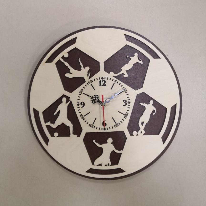 Laser Cut Football Wall Clock Sport Wall Clock Gift For Soccer Lover Footballer Free Vector