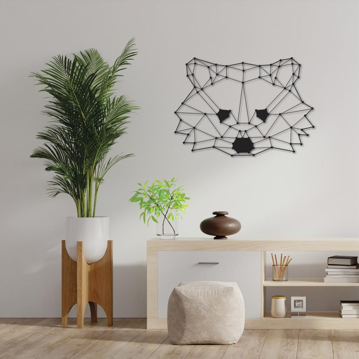 Laser Cut Polygon Raccoon Wall Art DXF File