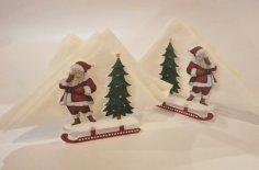 Laser Cut Christmas Napkin Holder Acrylic Standing Napkin Holder Free Vector