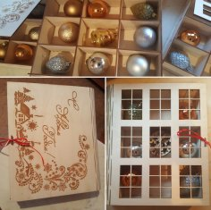 Laser Cut Book Gift Box For Christmas Toys Free Vector