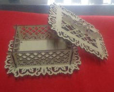 Laser Cut Wood Decorative Box Free Vector