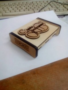 Laser Cut Engraved Flash Drive Gift Box 4mm Free Vector