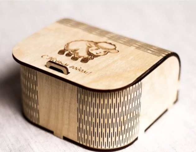 Laser Cut Small Gift Box Wooden Jewelry Box Free Vector