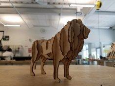 Laser Cut Lion 3D Model PDF File