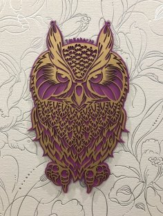 Laser Cut Decorative Plywood Owl Free Vector