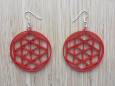 Laser Cut Earring Templates DXF File