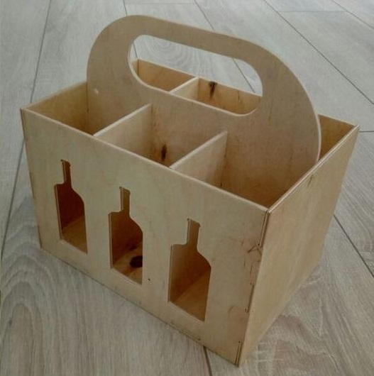 Laser Cut Beer Box Caddy Free Vector