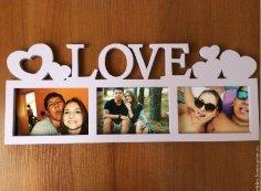 Laser Cut Love Photo Frames Free Vector