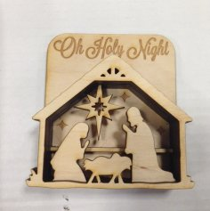 Laser Cut Wooden Nativity Scene DXF File