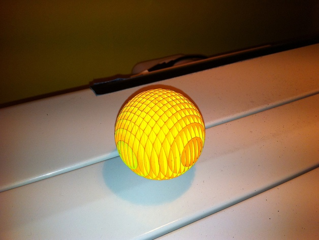 Sliceform Christmas Ball DXF File