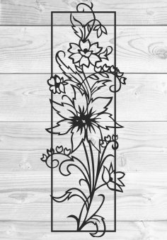 Laser Cut Vine Wall Decal Floral Wall Decor Free Vector