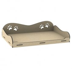 Laser Cut Dog Cot Cute Raised Dog Bed Free Vector
