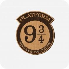 Laser Cut Harry Potter Platform 9 3/4 Free Vector