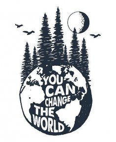 Laser Cut You Can Change The World Quote DXF File