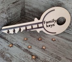 Laser Cut Key Shaped Key Hook Free Vector