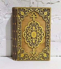 Laser Cut Decorative Book Box Birch Plywood Free Vector