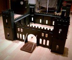 Laser Cut Toy Castle 3D Model DXF File