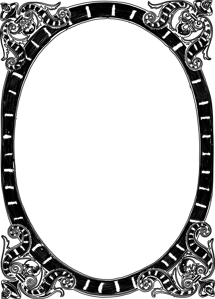 Decor Mirror Frame DXF File