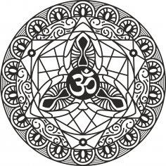 Om Mandala Free Vector