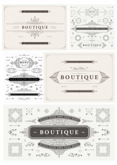 Elegant Elements Free Vector Art Free Vector