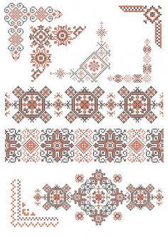 Ukraine Style Fabric Ornaments Free Vector