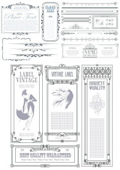 Collection Of Vintage Elements Free Vector