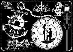 Decorative Wall Clock Free Vector
